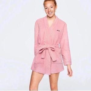 Pink Victoria Secret cozy Sherpa robe